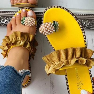 2020 Women Flats Slippers Summer Flip Flops Flowers shoes