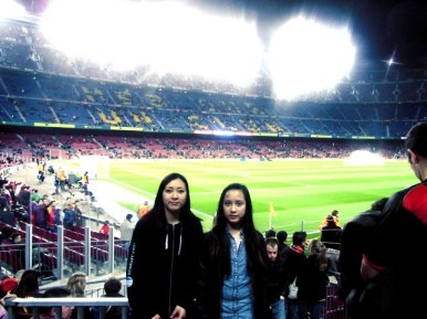 Me and sis at Camp Nou ~ GO Barcelona