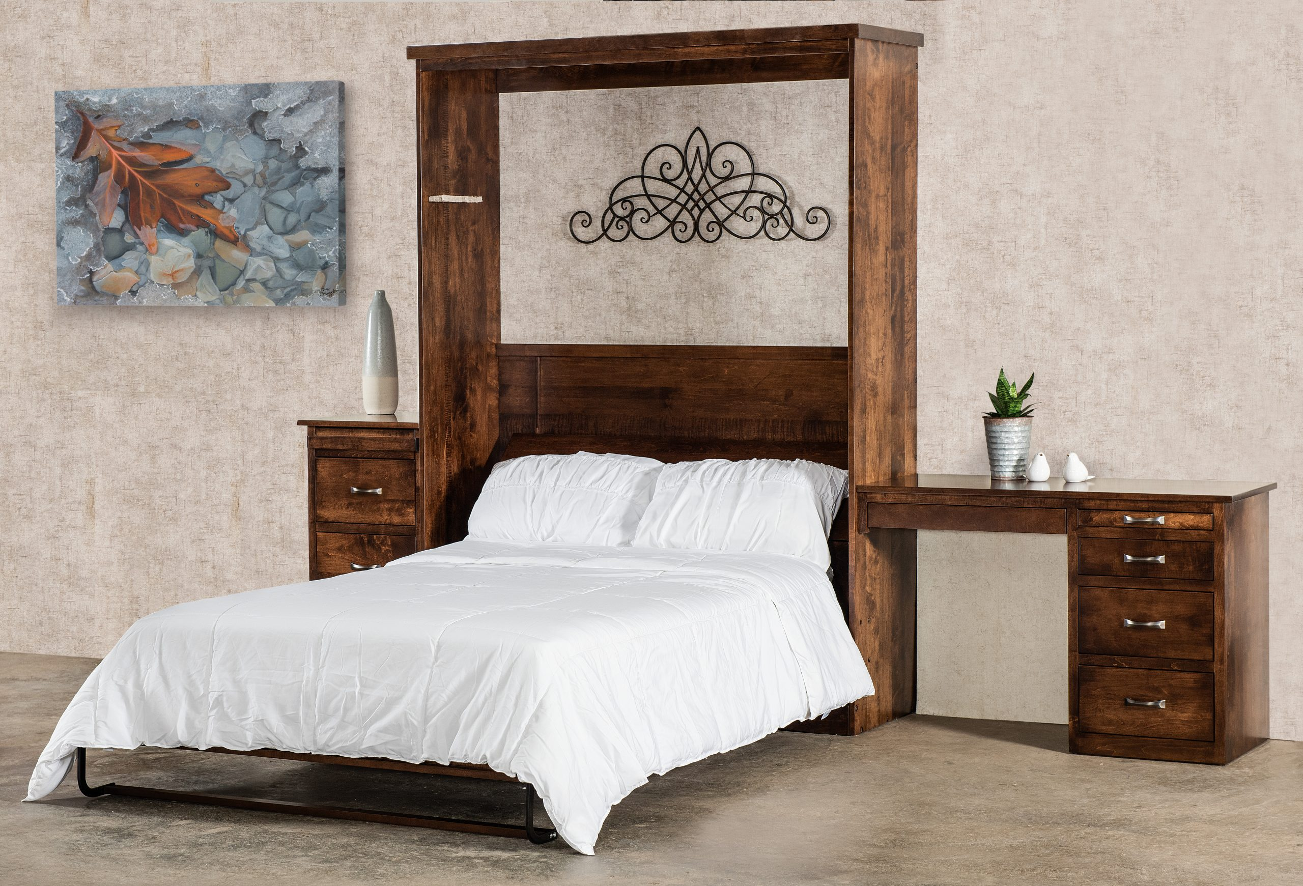 murphy bed amish solid wood beds