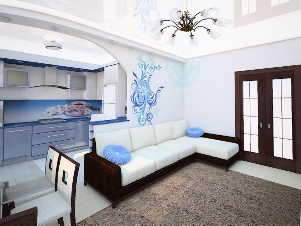 дизайн комнаты 16 кв м в однокомнатной квартире фото 3