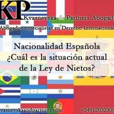 Ley de Nietos. Nacionalidad Española