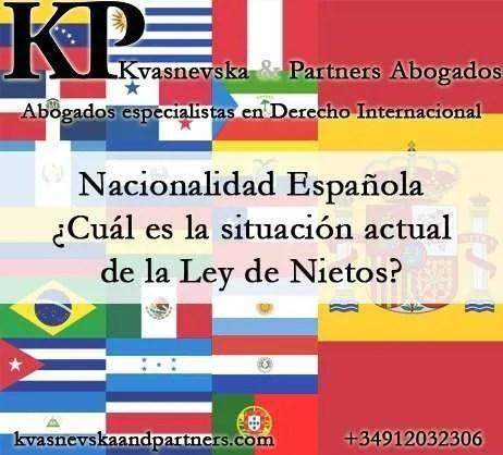 La nueva Ley de Nietos. Nacionalidad Española