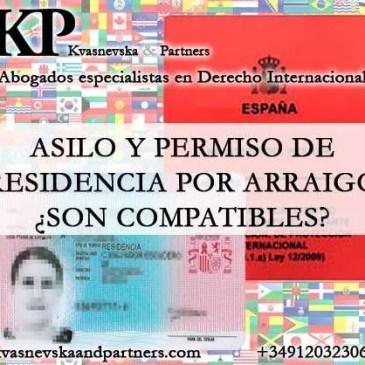 Asilo y permiso de residencia por Arraigo ¿son compatibles?