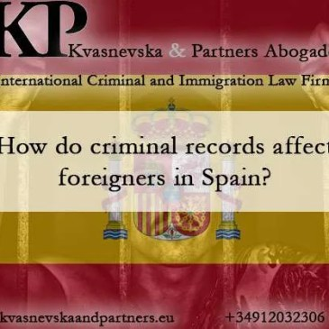 Criminal records of foreigners in Spain