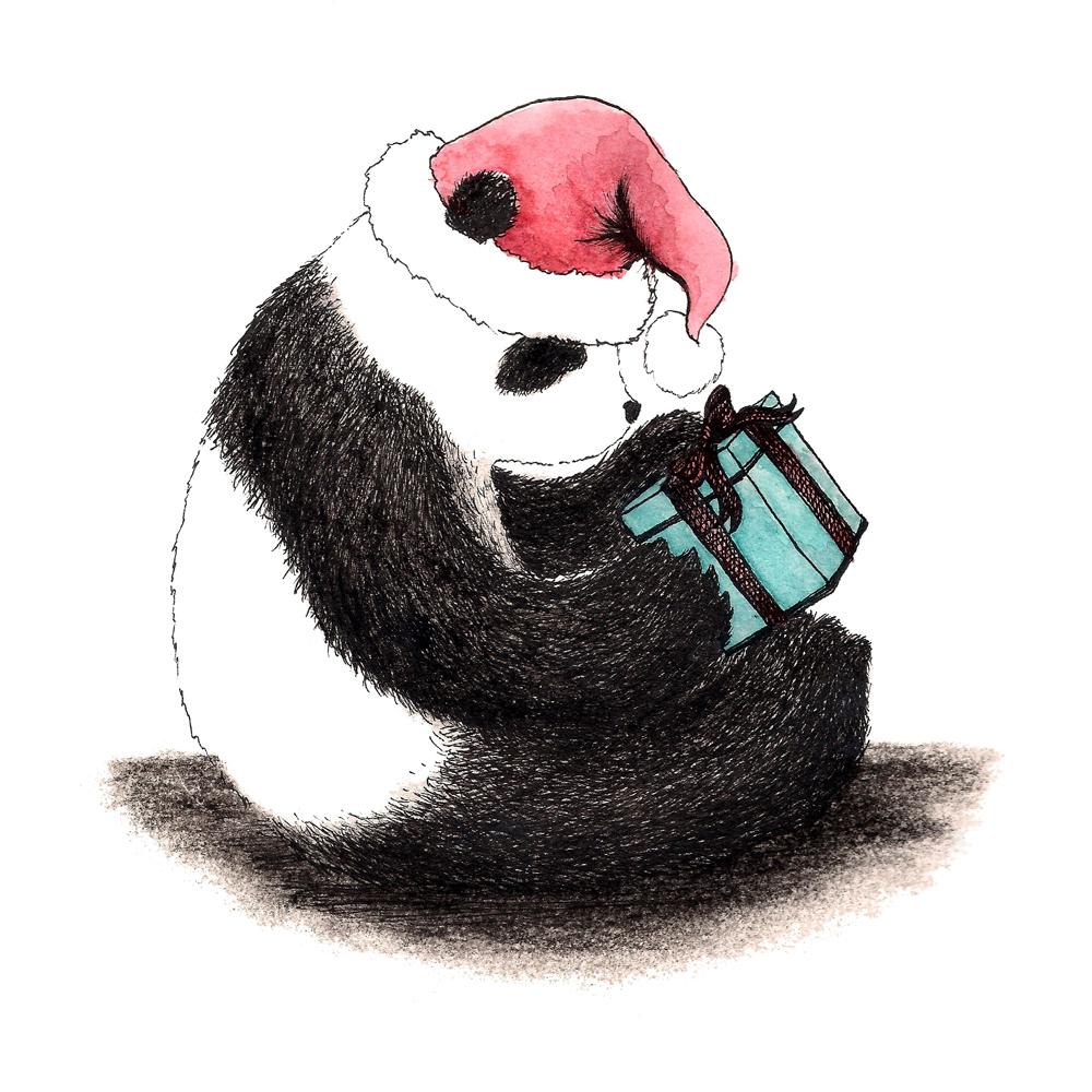 Christmas Panda Karen Vaughan Illustration Amp Design