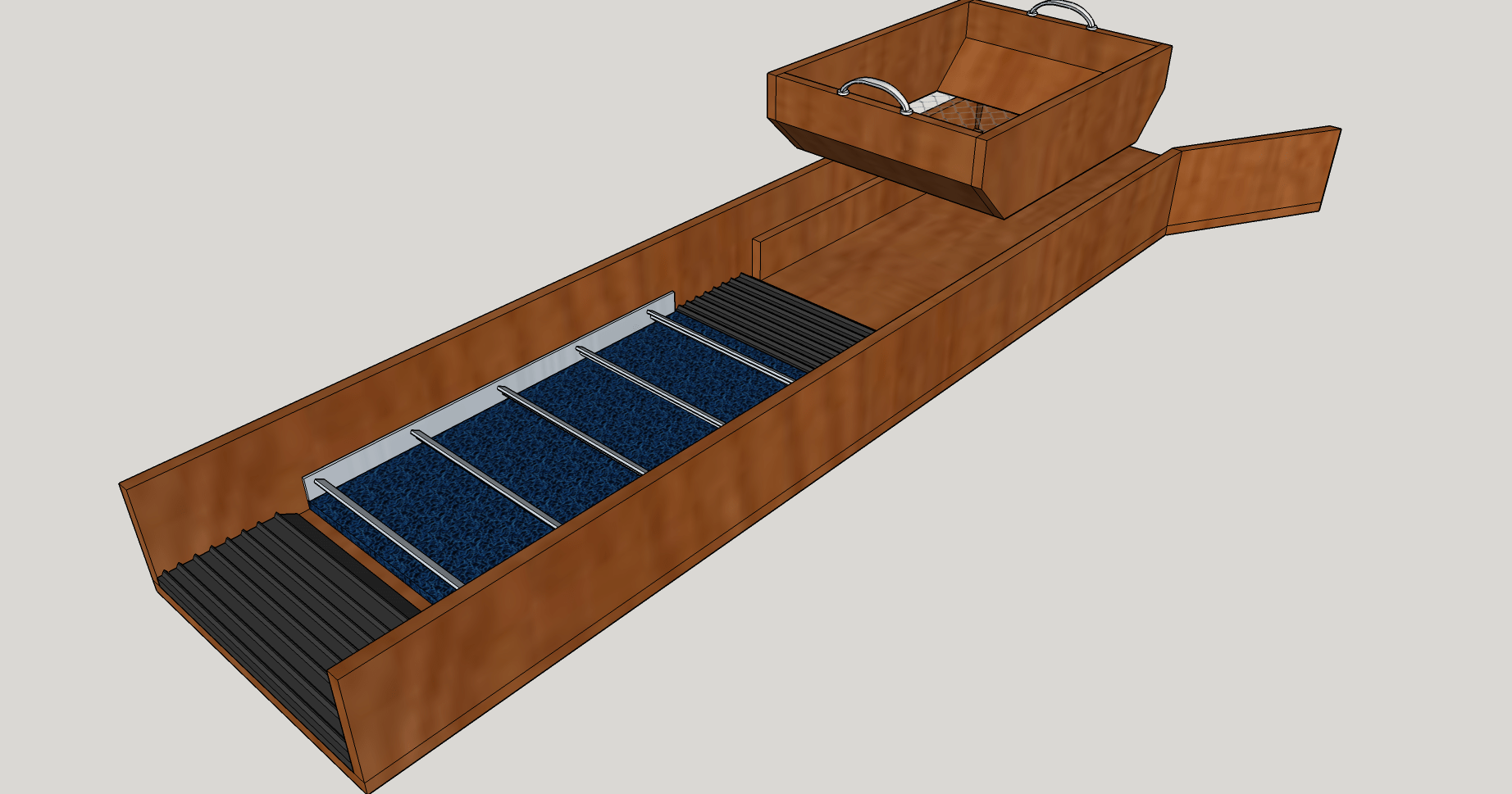 Portable Gold Sluice Box