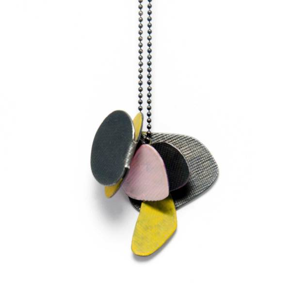 unfolding pendant yellow pink