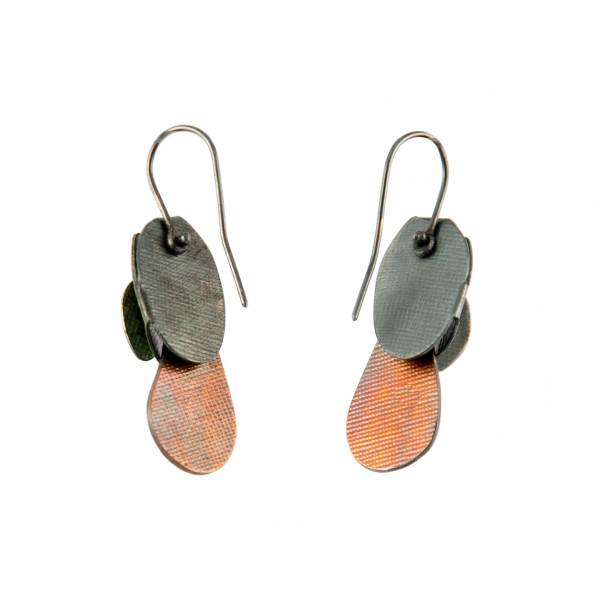leaves and drops earrings S back
