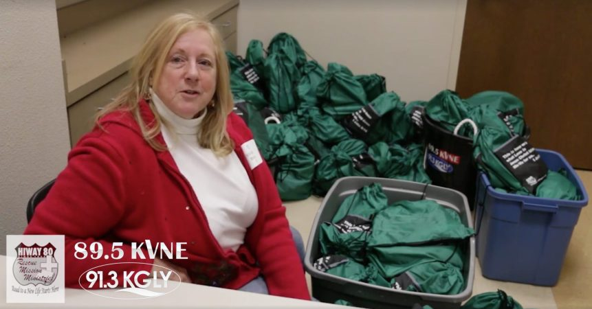 89.5 KVNE East Texas Christian Radio Care Packages for the Homeless Video