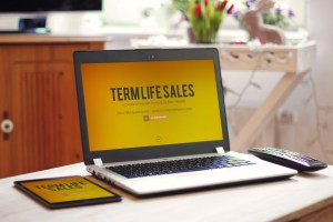 Website Photo Mockup - Term Life Sales