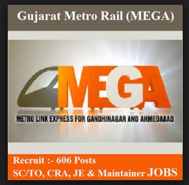 Gujarat Metro Railway Recruitment 2017,Gujarat Metro Rail Recruitment 2017-18,(SC/TO) Station Controller/ Train Operator, Junior Engineer, Customer Relations Assistant (CRA), Maintainer Vacancies