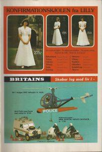 1980 - Huges 300 helikopter fra Britain til drengene og en konfirmationskjole til pigen