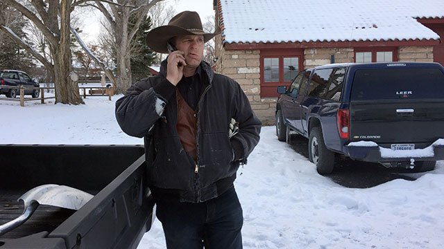 Ryan Bundy at the Malheur National Wildlife Refuge in Oregon this past January. (AP photo)