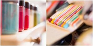 Business - Fotos von Farbtöpfe und farbige Kreide