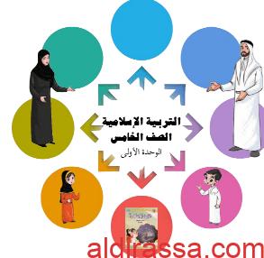 مذكرة تربية اسلامية الوحدة الأولى للصف الخامس اعداد أماني الحقان