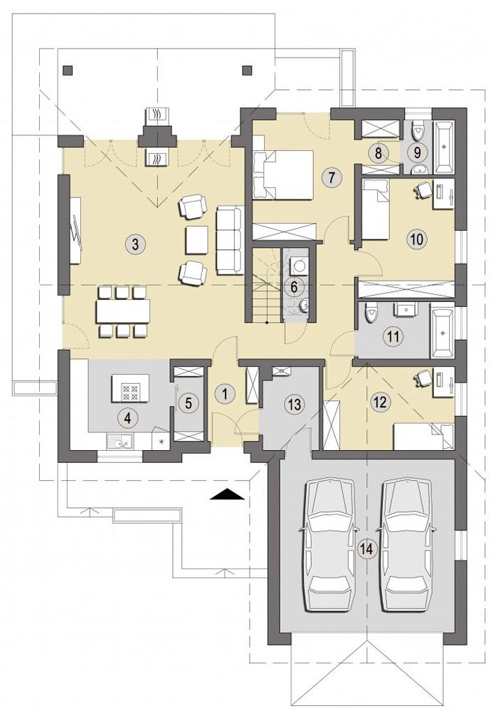 Dom dla młodego małżeństwa z Pracowni Architektury Słoneczne Domy
