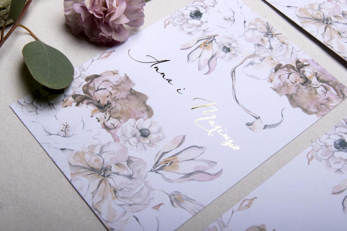 zaproszenia ślubne kwiaty _ wyjątkowe zaproszenia ślubne