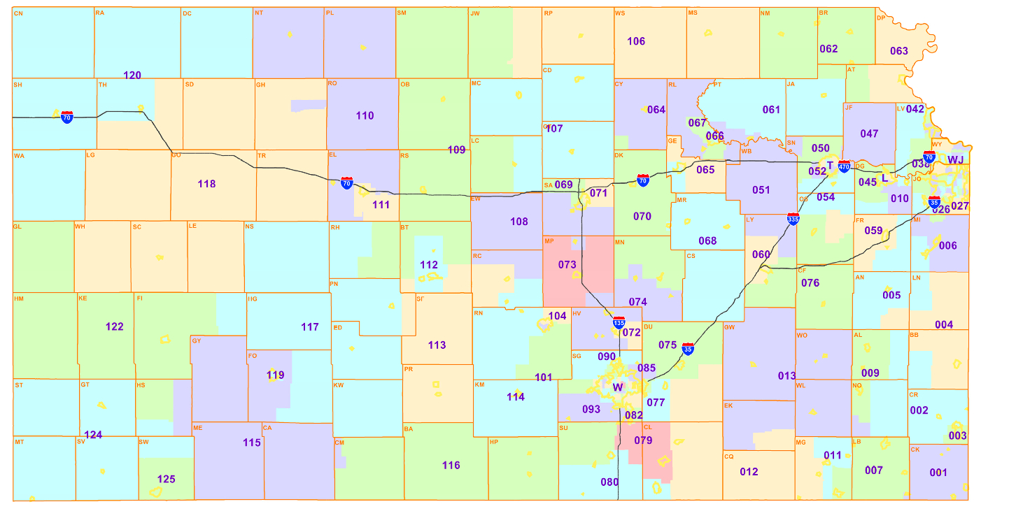 Kansas Federal District Courts Map