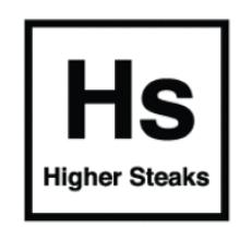 Brits kweekvleesbedrijf Higher Steaks logo