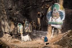 Rysunki naskalne w drodze do Thame
