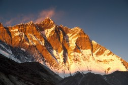 Południowa ściana Lhotse (8516m) wieczorem
