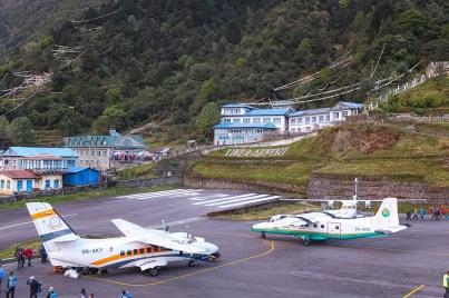 Lotnisko w Lukli ma cztery miejsca postojowe