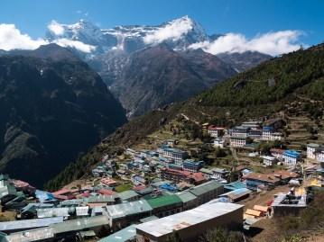 """""""Kocioł"""" Namche Bazar (3440m)"""