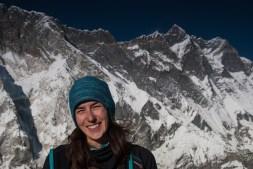 Gosia na tle Lhotse