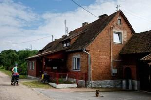 Zabrost Wielki, wieś przy samej granicy z Obwodem Kaliningradzkim