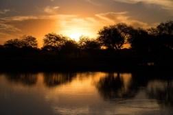 Zachód słońca w centrum Chaco