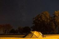 Pierwsza noc w Argentynie, kilkanaście kilometrów za przejściem granicznym