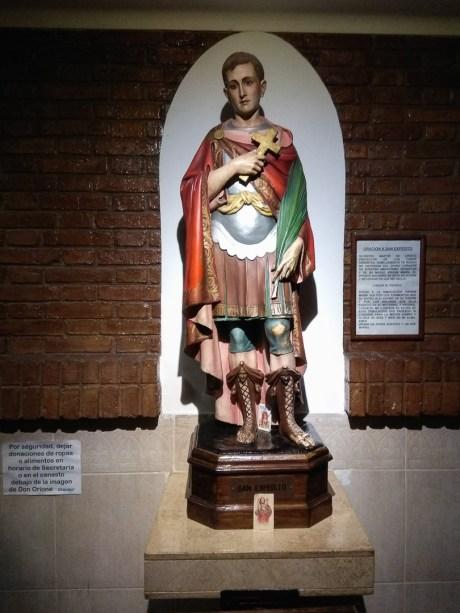 Święty Ekspedyt w kościele w Mendozie