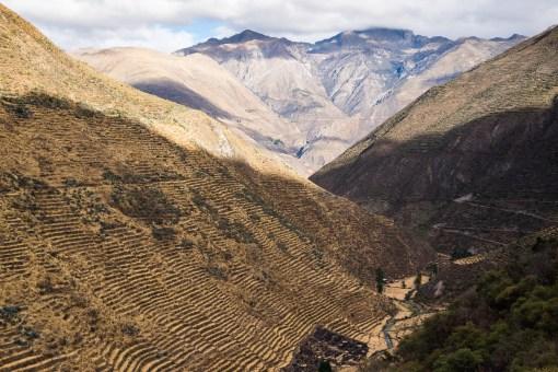 Rolnicze tarasy koło Laraos