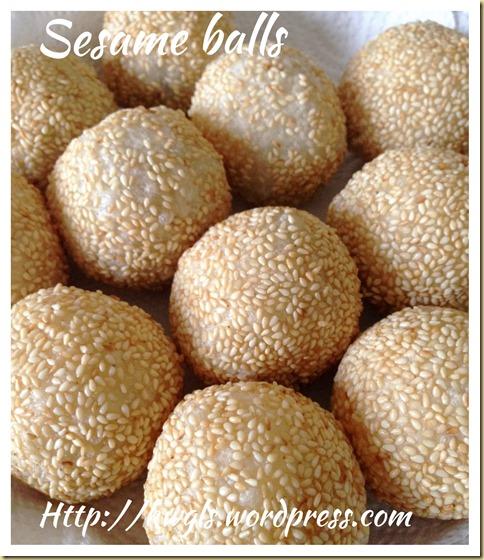 My Ugly Sesame Balls–Sesame Balls or Jian Dui or Kuih Bom (煎堆,芝麻球)