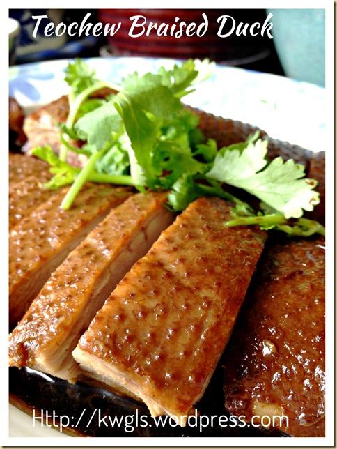 Teochew Braised Duck or Lor Ark (潮州卤鸭)