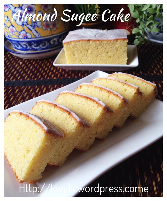 Sugee almond cake sugee guai shu shu sugee almond cake sugee forumfinder Image collections