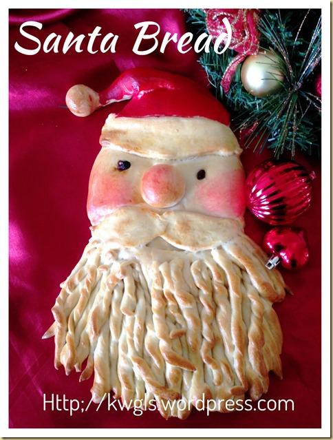 I Failed To Do Proper Make Up For My Santa–Santa Bread (圣诞老人面包)