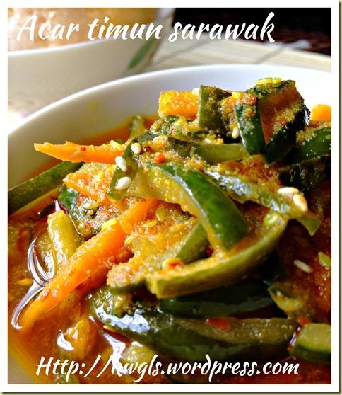 Sarawak Pickled Cucumber - Acar Timum Sarawak
