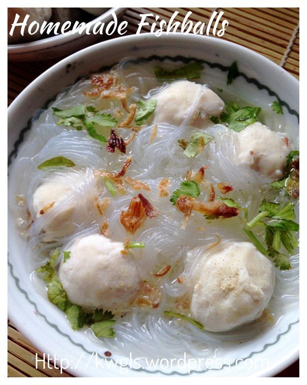 Homemade fish balls guai shu shu for Homemade fish food