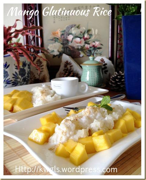 Thai Mango Glutinous Rice Dessert (Khao Niaow Ma Muang, 泰国芒果糯米饭)