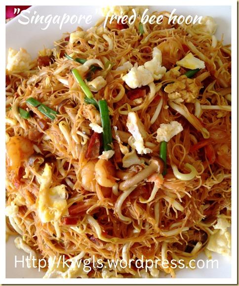 Singaporean Fried Rice Vermicelli? Xing Zhou Fried Bee Hoon or 星洲炒米粉