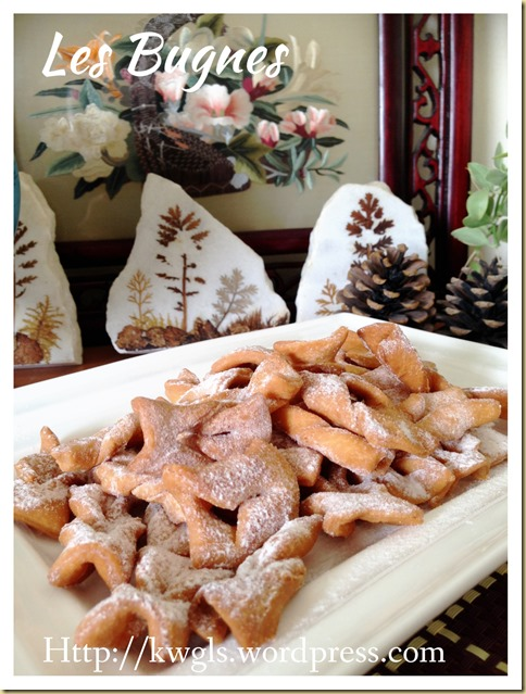 It Is Not Chinese Dansan, It Is Western Snack Angel Wings (Les Bugnes 法国蛋散,天使的翅膀)