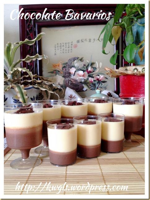 Double Chocolate Bavarian Cream or Bavarois (双巧克力慕斯杯)