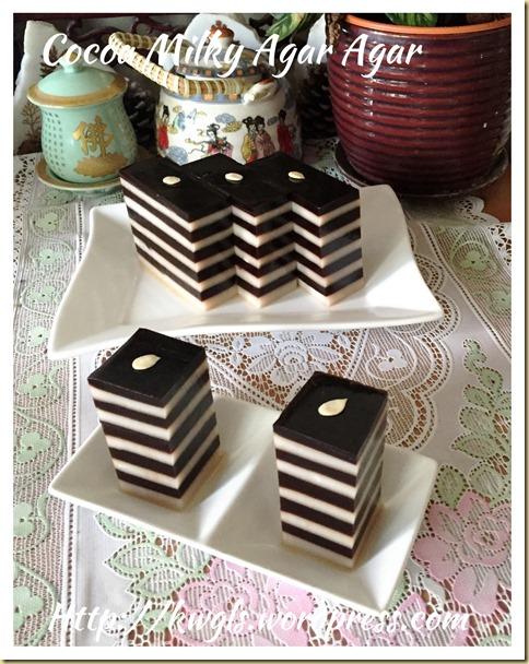 Cocoa Milky Layered Agar Agar (可可牛奶千层燕菜)