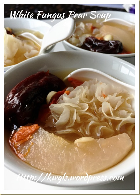 Snow Fungus Pear Sweet Soup (冰糖银耳炖雪梨)
