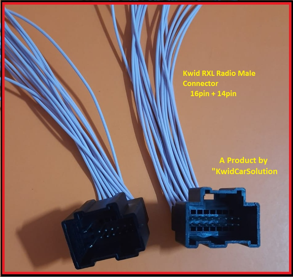 Kwid Rxl Radio Male Connector  14pin 16pin Pair   U2013 Kwidcarsolution