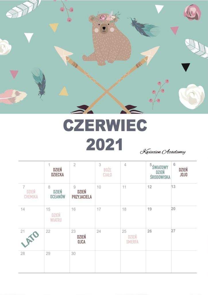 czerwiec kalendarz świat przedszkolaki