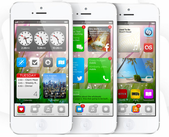 iOS7 Imagined by Tiny Team