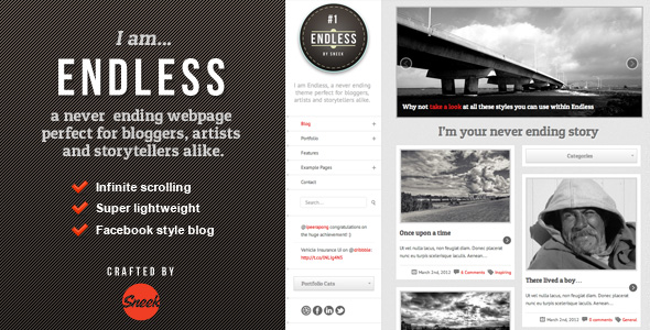 endless 35 Impressive WordPress Themes of April 2012