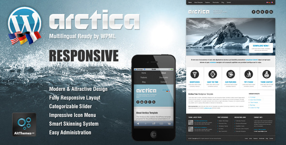 arctica 35 Impressive WordPress Themes of April 2012